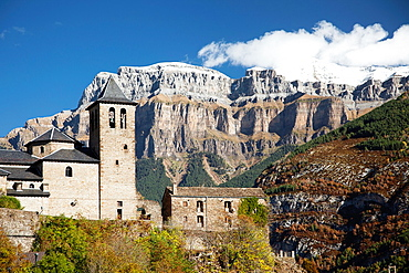 Torla, gateway to Ordesa and Monte Perdido National Park, Spanish Pyrenees