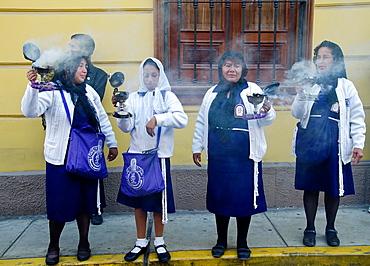 Good Friday Procession in Pueblo Libre district, Lima, Peru.