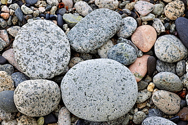 Beach stones, Haida Gwaii (Gwaii Haanas National Park), British Columbia, Canada.