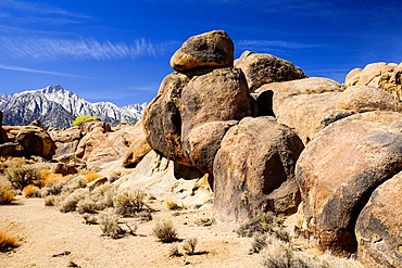 rock formations in the Alabama Hills, California, USA
