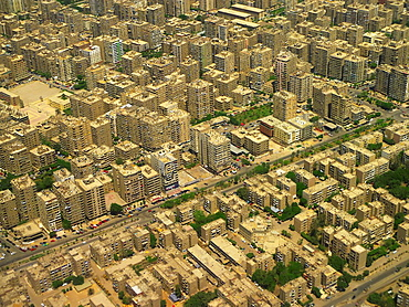 Cairo Aerial Urban view. Egypt.