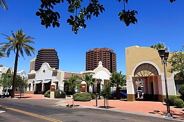 Arizona State University campus in Downtown  Phoenix  Arizona  USA.