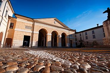 Italy, Lombardy, Crema, Piazza Trento Trieste Square, Mercato Austroungarico, Old Market, From 1842
