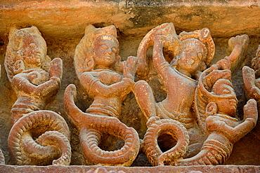 India, Rajasthan, Osian, Harihara temple (8th C), Nagas.