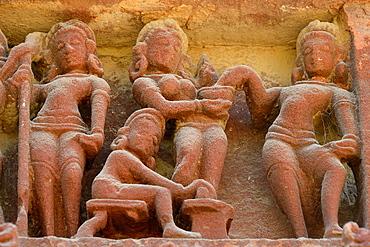 India, Rajasthan, Osian, Harihara temple (8th C), Apsaras.