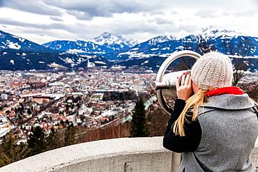 Panoramic of Innsbruck from Nordkette, Tyrol, Austria, Europe.