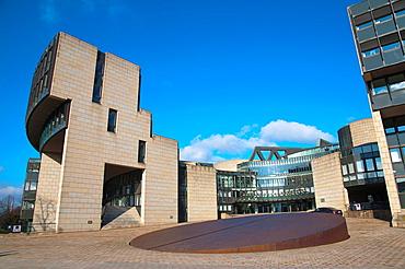 Landtag Nordrhein-Westfalen assembly building Dusseldorf city North Rhine Westphalia region western Germany Europe.