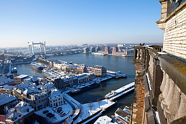 View From The 'grote Kerk' In Dordrecht, Holland.