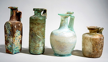 Roman period Glass vessels 2-3 century CE.
