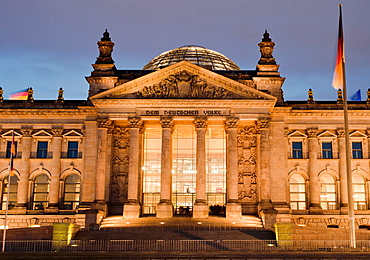 Reichstag, House of German Parliament, Federal Parliament Building, Berlin, Germany, Europe.