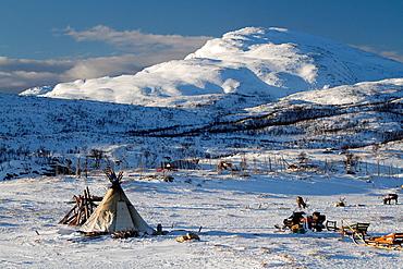 Sami camp in Norway.