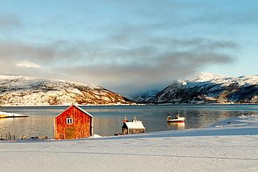 Fishing village near Tromso, Norway.