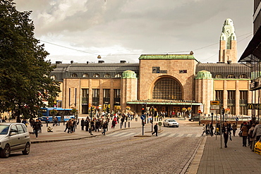 Railway station in Helsinki. Finland.
