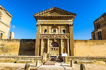 Europe, France, Vaucluse, Luberon, La Tour-d'Aigues. The facade of the castle.