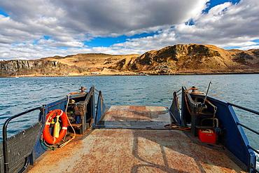 Ferry on Kerrera Island, Argyll and Bute, Scotland, UK, Europe.