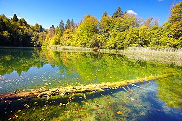 Croatia, autumn landscape of Plitvice Lakes National Park, Plitvice, central Croatia.