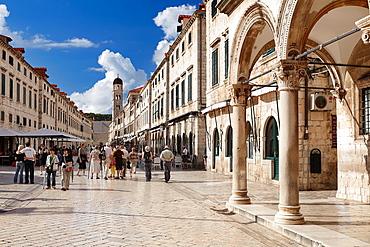 Croatia, Dubrovnik, Old Town, Stradun street, main street of Dubrovnik Old Town, Dalmatia, Croatia, UNESCO.