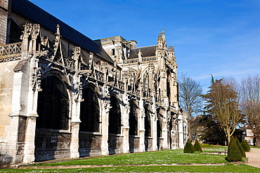 Cathedral of Les Andelys, Haute Normandie, France.