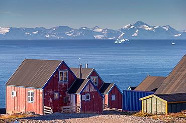 Village of Ittoqqortoormiit, Scoresbysund, Sermersooq Municipality, Greenland.