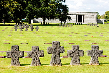 German military cemetery of World War II, La Cambe, Calvados, Basse-Normandie, France.