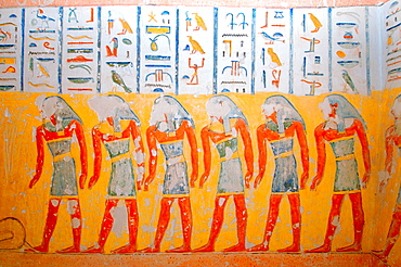 The Interior of Ramesses IV's KV2 royal tomb, East Valley of the Kings, Luxor (Thebes), Egypt, Africa.