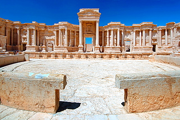 amphitheater in the ancient city of Palmyra, Syria.
