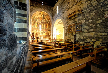 Interior of the Saccargia church at Sardinia