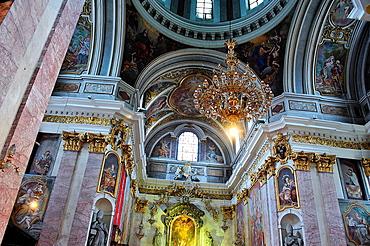 Inside the cathedral. Ljubljana, Slovenia