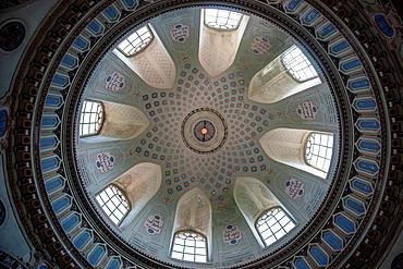 mosque, Schwetzingen Castle garden, dome ceiling Schwetzingen Germany