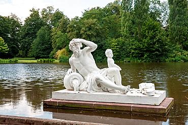 Schwetzingen Castle, & castle gardens, River God Danube, Schwetzingen Germany