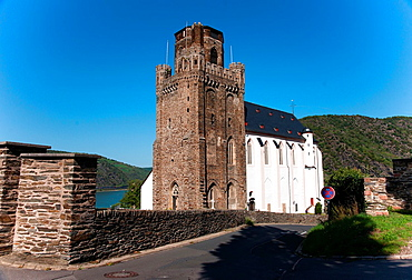 defence tower of St. Martin's church, Oberwesel Germany.