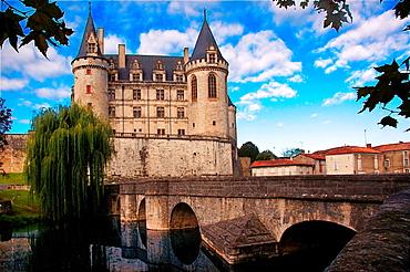 France- Poitou Charente- Charente- Castle of La Rochefoucauld, XI-XVIIIc.