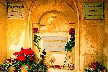 Tomb of Francois Miterrand, Jarnac, Charente, Poitou-Charentes, France