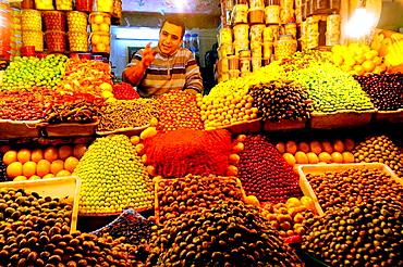 Cured olives in the market, Meknes, Morocco