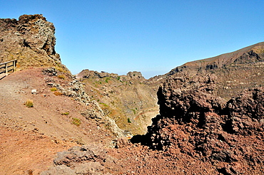 Mount Vesuvius, stratovolcano on the bay of Naples. Italy.