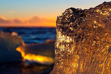 Jokulsarlon beach, Southern Iceland, Iceland, Europe