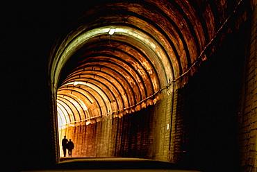Tunnel into a greenway, Alcoy, Alicante, Spain.