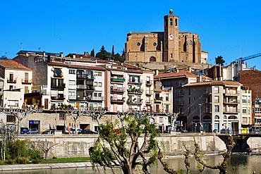 Balaguer. Santa Maria church. Noguera count, Lleida province, Catalunya.