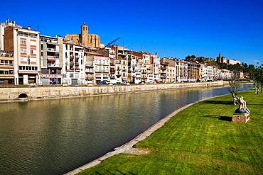 Balaguer, Noguera county, Lleida province, Catalunya. River Segre.