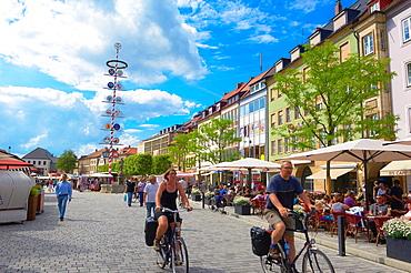 Bayreuth, Maximilian street, Upper Franconia, Franconia, Bavaria, Germany.