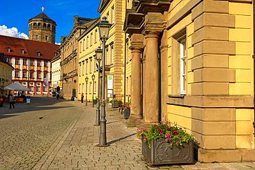 Bayreuth, Kanzleistrasse, Altes Schloss (Old Castle), Upper Franconia, Franconia, Bavaria, Germany.