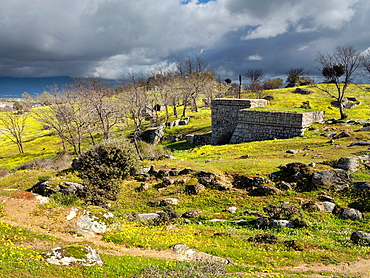 Country in Higuera de las Duenas. Avila. Castilla Leon. Spain.