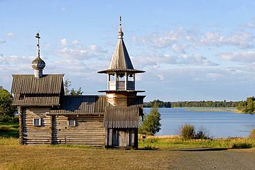 The Archangel Michael Chapel, beginning of XVIIIth century, Kizhi Island, Onega lake, Karelia, Russia.