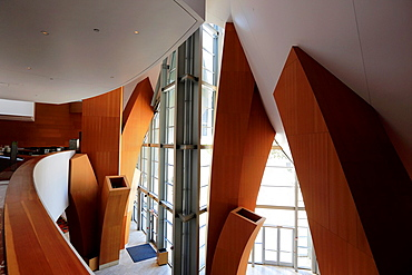The main hallway inside of Walt Disney Concert Hall. Los Angeles. California. USA.