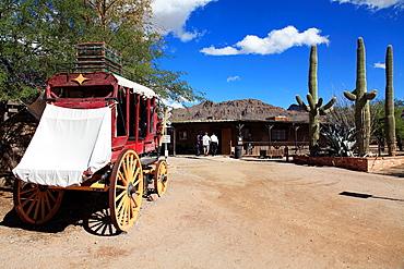The main street in Old Tucson Studios. Tucson. Arizona. USA.