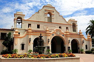 Historical San Gabriel Mission Playhouse. San Gabriel. California. USA.