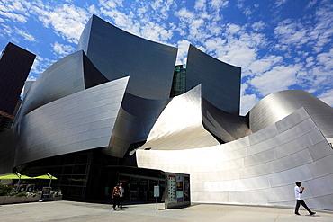 The exterior view of Walt Disney Concert Hall. Los Angeles. California. USA.