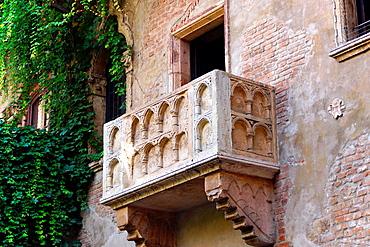 Verona (Italy). Romeo and Juliet balcony in Verona City.