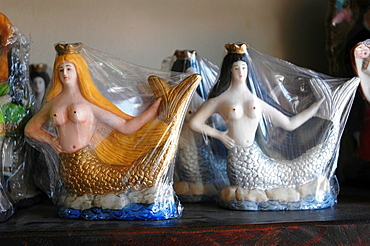 Salvador de Bahia, Bahia, Brazil, statuettes of Yemanja, orixa of the sea, sold in a shop