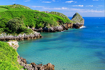 Berellín beach, in Val de San Vicente, Cantabria, Spain.